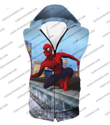 Image of Amazing Spiderman Gameplay Action T-Shirt Sp048 Hooded Tank Top / Us Xxs (Asian Xs)