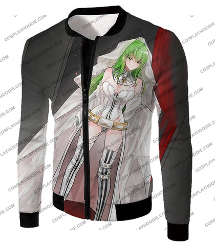 Image of Super Sexy C.c. The Witch Of Britannia Amazing Anime Promo T-Shirt Cg048 Jacket / Us Xxs (Asian Xs)