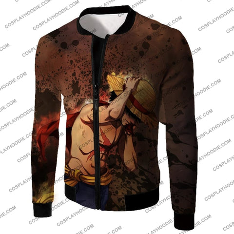 Image of One Piece Best Pirate Captain Monkey D Luffy Cool Anime T-Shirt Op048 Jacket / Us Xxs (Asian Xs)