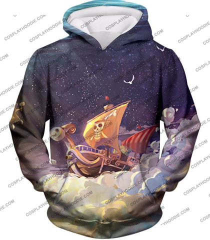 Image of One Piece Super Cool Straw Hat Ship Going Merry Amazing T-Shirt Op049 Hoodie / Us Xxs (Asian Xs)