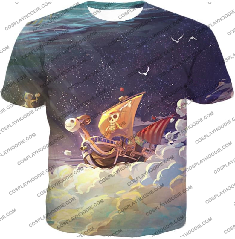 One Piece Super Cool Straw Hat Ship Going Merry Amazing T-Shirt Op049 / Us Xxs (Asian Xs)