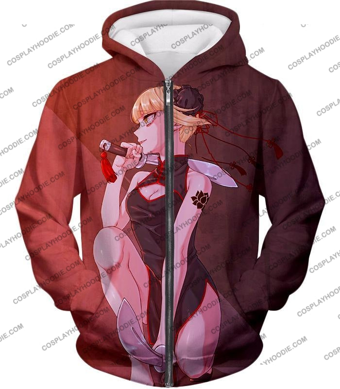 My Hero Academia Transforming Villain Himiko Toga Cool Anime T-Shirt Mha099 Zip Up Hoodie / Us Xxs