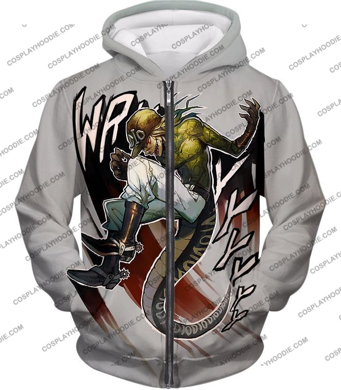 Diego Brando Stand Scary Monsters Anime Action T-Shirt Jo049 Zip Up Hoodie / Us Xxs (Asian Xs)