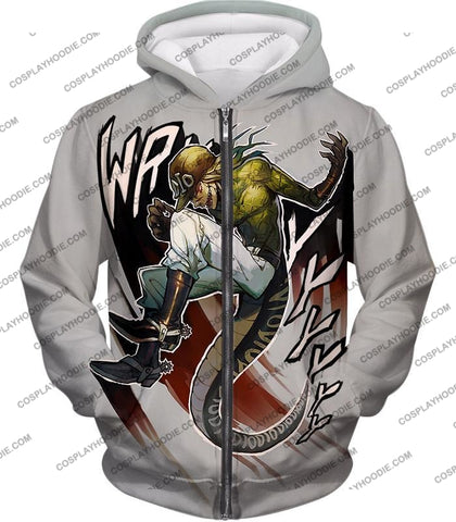 Image of Diego Brando Stand Scary Monsters Anime Action T-Shirt Jo049 Zip Up Hoodie / Us Xxs (Asian Xs)