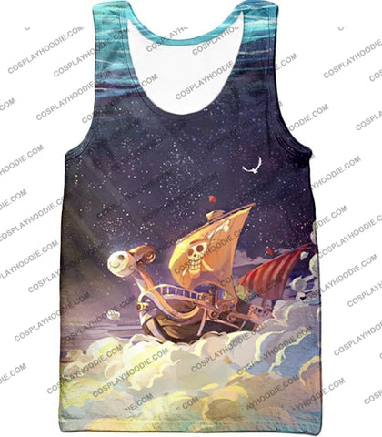 Image of One Piece Super Cool Straw Hat Ship Going Merry Amazing T-Shirt Op049 Tank Top / Us Xxs (Asian Xs)