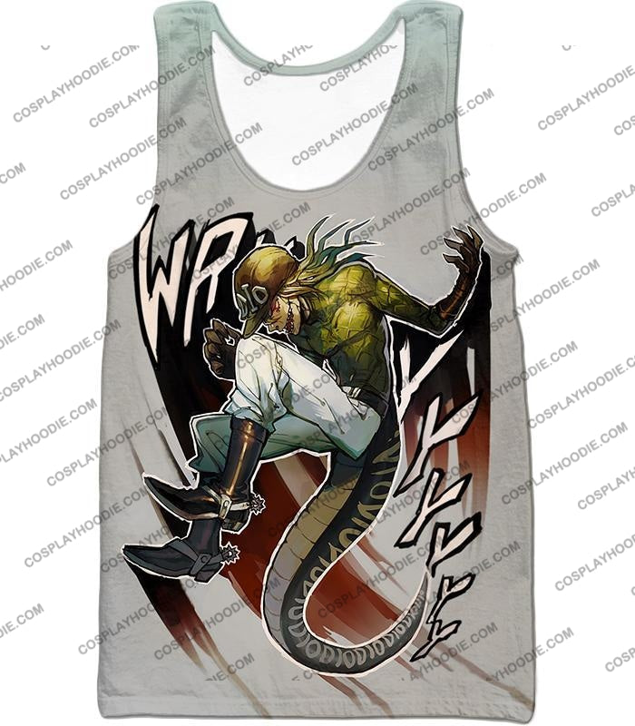 Diego Brando Stand Scary Monsters Anime Action T-Shirt Jo049 Tank Top / Us Xxs (Asian Xs)
