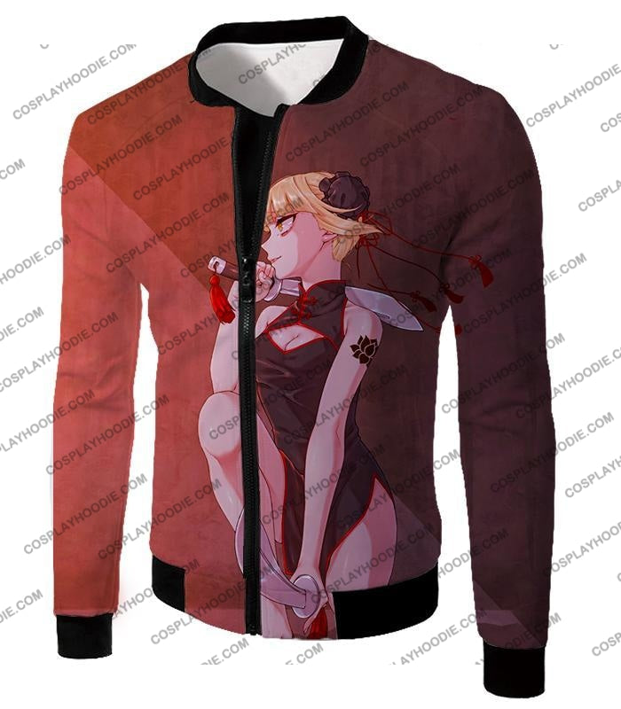 My Hero Academia Transforming Villain Himiko Toga Cool Anime T-Shirt Mha099 Jacket / Us Xxs (Asian