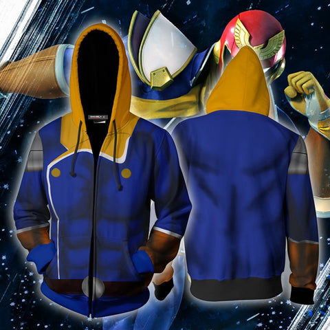 Image of Captain Falcon Hoodie Cosplay Jacket Zip Up