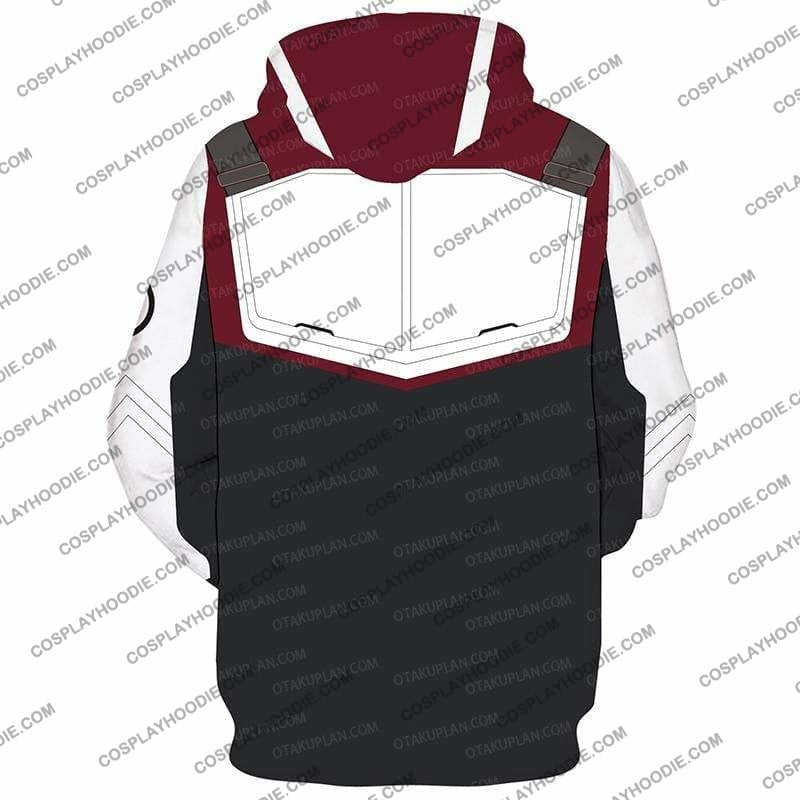 The Avengers 4 Avengers: Endgame Quantum Suits White Zip Up Hoodie Cosplay Jacket
