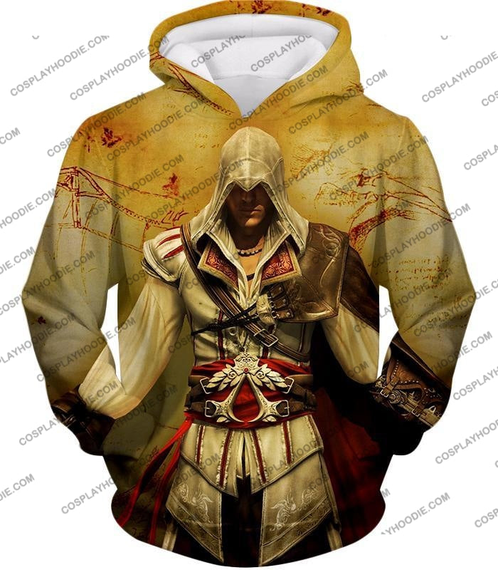 Assassins Creed Cool Ezio Firenze Awesome Graphic Promo T-Shirt Ac005 Hoodie / Us Xxs (Asian Xs)