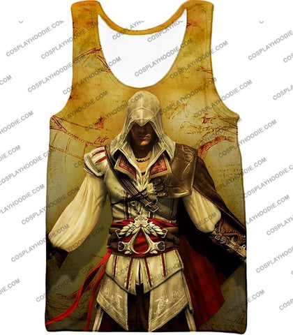 Image of Assassins Creed Cool Ezio Firenze Awesome Graphic Promo T-Shirt Ac005 Tank Top / Us Xxs (Asian Xs)