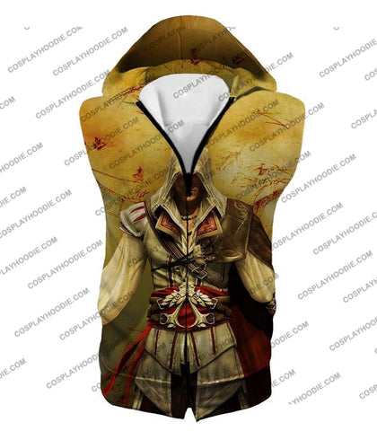 Image of Assassins Creed Cool Ezio Firenze Awesome Graphic Promo T-Shirt Ac005 Hooded Tank Top / Us Xxs