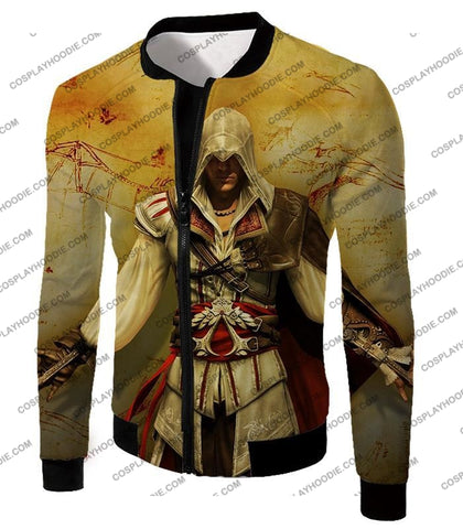 Image of Assassins Creed Cool Ezio Firenze Awesome Graphic Promo T-Shirt Ac005 Jacket / Us Xxs (Asian Xs)