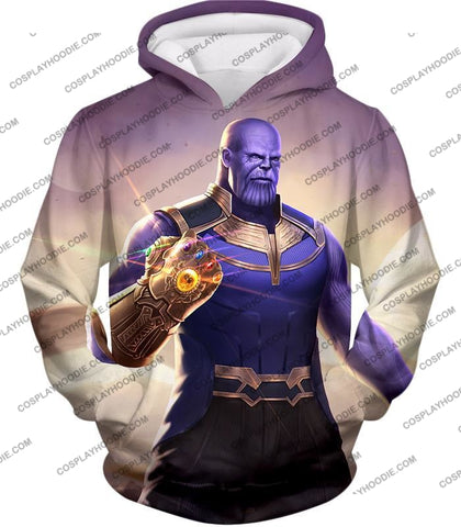Image of The Avengers Cool Titan Thanos Infinity Gauntlet T-Shirt Ta050 Hoodie / Us Xxs (Asian Xs)