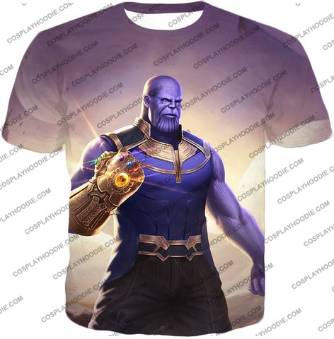 Image of The Avengers Cool Titan Thanos Infinity Gauntlet T-Shirt Ta050 / Us Xxs (Asian Xs)