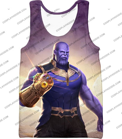 Image of The Avengers Cool Titan Thanos Infinity Gauntlet T-Shirt Ta050 Tank Top / Us Xxs (Asian Xs)