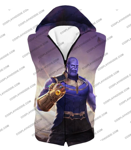 Image of The Avengers Cool Titan Thanos Infinity Gauntlet T-Shirt Ta050 Hooded Tank Top / Us Xxs (Asian Xs)