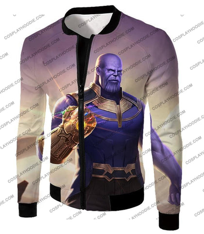 Image of The Avengers Cool Titan Thanos Infinity Gauntlet T-Shirt Ta050 Jacket / Us Xxs (Asian Xs)