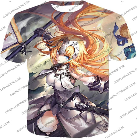Image of Fate Stay Night Powerful Ruler Class Fighter Jeanne Darc T-Shirt Fsn051 / Us Xxs (Asian Xs)