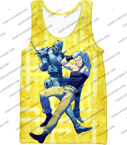 Image of Jean Pierre Polnareff Stand Silver Chariot Graphic T-Shirt Jo051 Tank Top / Us Xxs (Asian Xs)