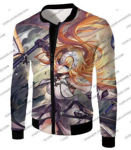Image of Fate Stay Night Powerful Ruler Class Fighter Jeanne Darc T-Shirt Fsn051 Jacket / Us Xxs (Asian Xs)