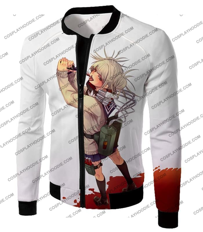 My Hero Academia Thristy For Blood Transforming Villain Toga Himiko Action White T-Shirt Mha101
