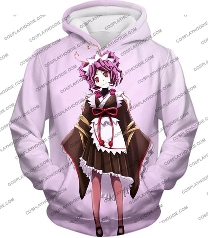 Image of Overlord Super Cool Entoma The Spider-Human Battle Maid Promo White T-Shirt Ol053 Hoodie / Us Xxs