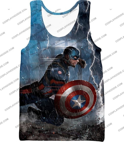 Image of Super Awesome Soldier Captain America Best Action Print T-Shirt Ca053 Tank Top / Us Xxs (Asian Xs)
