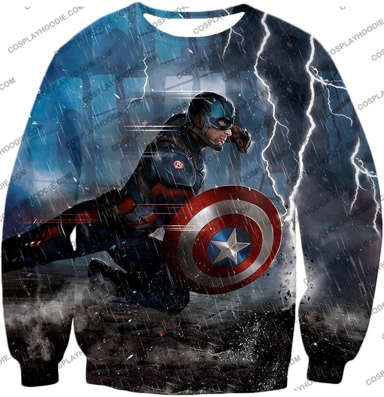 Super Awesome Soldier Captain America Best Action Print T-Shirt Ca053 Sweatshirt / Us Xxs (Asian Xs)