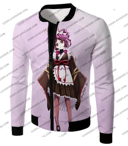 Image of Overlord Super Cool Entoma The Spider-Human Battle Maid Promo White T-Shirt Ol053 Jacket / Us Xxs