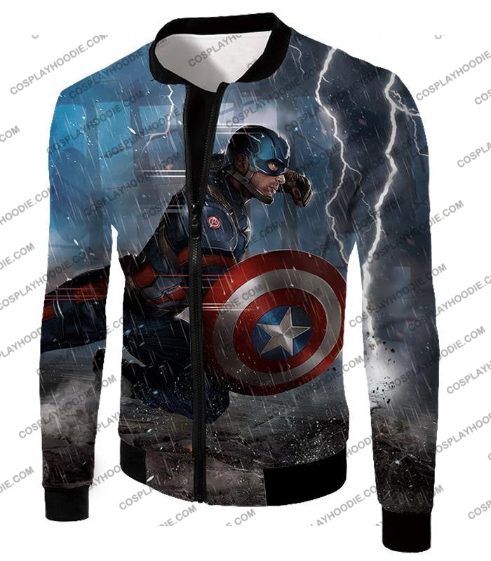 Super Awesome Soldier Captain America Best Action Print T-Shirt Ca053 Jacket / Us Xxs (Asian Xs)