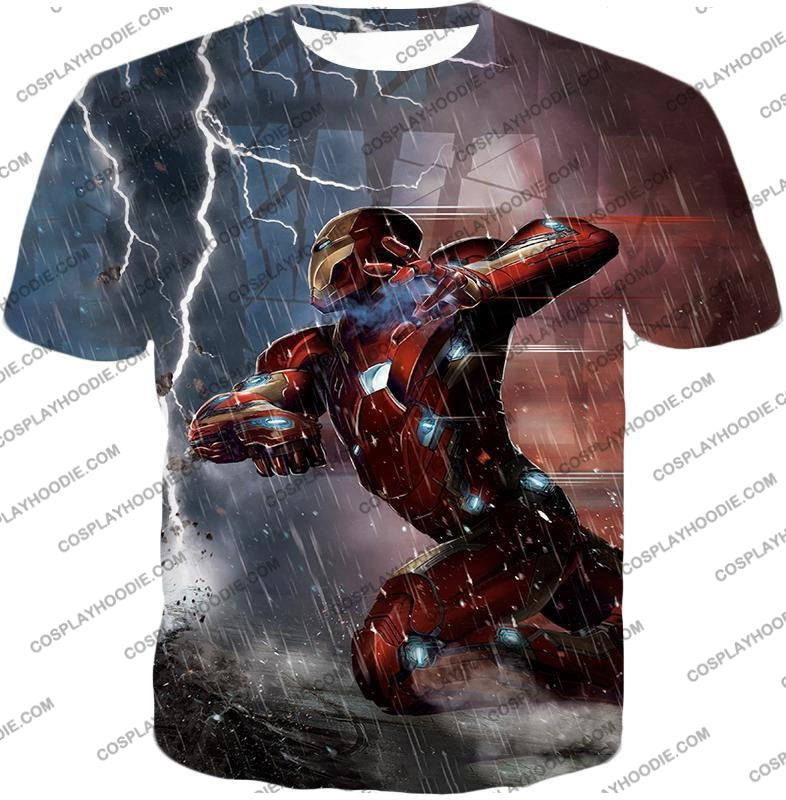 Cool Avenger Iron Man Awesome Action Print T-Shirt Ca054 / Us Xxs (Asian Xs)
