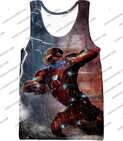 Image of Cool Avenger Iron Man Awesome Action Print T-Shirt Ca054 Tank Top / Us Xxs (Asian Xs)