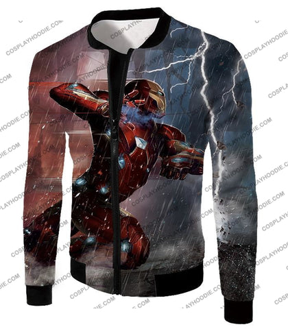 Image of Cool Avenger Iron Man Awesome Action Print T-Shirt Ca054 Jacket / Us Xxs (Asian Xs)