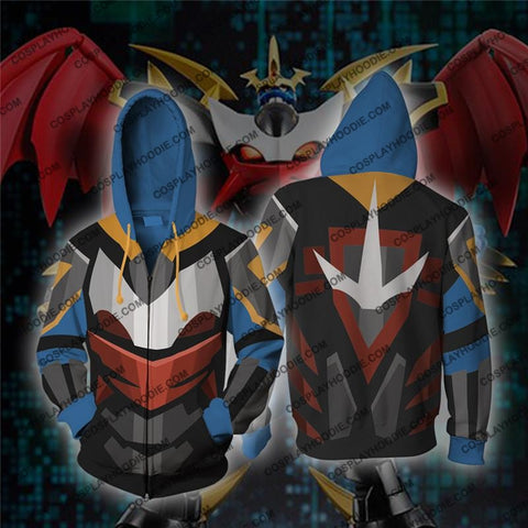 Digimon Imperial Dramon Cosplay Zip Up Hoodie Jacket