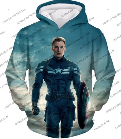 Image of First Avenger Shield Hero Super Soldier Captain America T-Shirt Ca055 Hoodie / Us Xxs (Asian Xs)