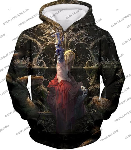 Image of Fullmetal Alchemist Ultimate Edward Elrich Art Amazing Graphic T-Shirt Fa055 Hoodie / Us Xxs (Asian