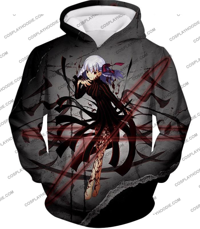 Fate Stay Night Villain Dark Sakura Matou Action T-Shirt Fsn055 Hoodie / Us Xxs (Asian Xs)