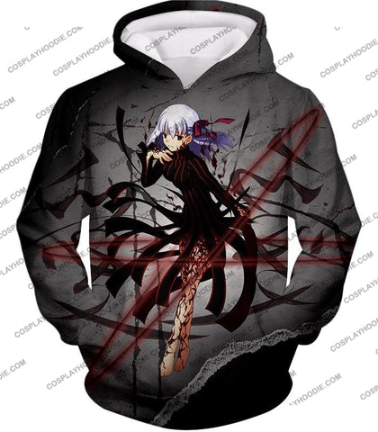 Image of Fate Stay Night Villain Dark Sakura Matou Action T-Shirt Fsn055 Hoodie / Us Xxs (Asian Xs)