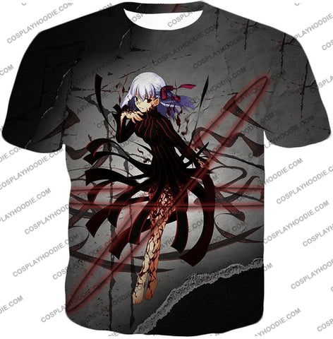 Image of Fate Stay Night Villain Dark Sakura Matou Action T-Shirt Fsn055 / Us Xxs (Asian Xs)