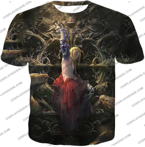 Image of Fullmetal Alchemist Ultimate Edward Elrich Art Amazing Graphic T-Shirt Fa055 / Us Xxs (Asian Xs)