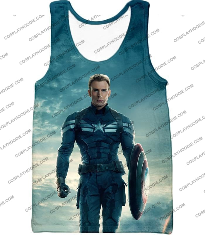 First Avenger Shield Hero Super Soldier Captain America T-Shirt Ca055 Tank Top / Us Xxs (Asian Xs)