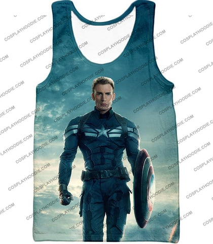 Image of First Avenger Shield Hero Super Soldier Captain America T-Shirt Ca055 Tank Top / Us Xxs (Asian Xs)