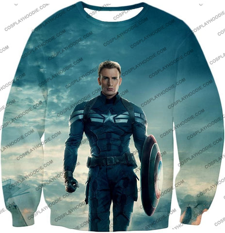 Image of First Avenger Shield Hero Super Soldier Captain America T-Shirt Ca055 Sweatshirt / Us Xxs (Asian Xs)