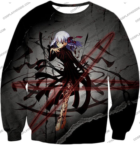 Image of Fate Stay Night Villain Dark Sakura Matou Action T-Shirt Fsn055 Sweatshirt / Us Xxs (Asian Xs)