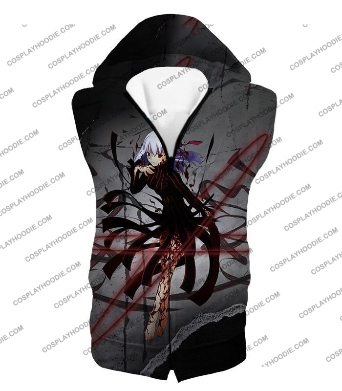 Fate Stay Night Villain Dark Sakura Matou Action T-Shirt Fsn055 Hooded Tank Top / Us Xxs (Asian Xs)