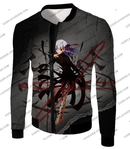 Image of Fate Stay Night Villain Dark Sakura Matou Action T-Shirt Fsn055 Jacket / Us Xxs (Asian Xs)