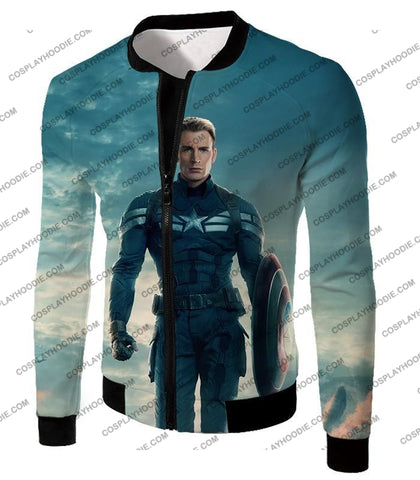 Image of First Avenger Shield Hero Super Soldier Captain America T-Shirt Ca055 Jacket / Us Xxs (Asian Xs)