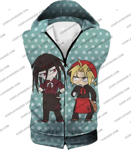 Image of Fullmetal Alchemist Super Cute Anime Illustrations Envy X Edward Awesome T-Shirt Fa056 Hooded Tank