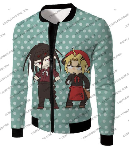 Image of Fullmetal Alchemist Super Cute Anime Illustrations Envy X Edward Awesome T-Shirt Fa056 Jacket / Us
